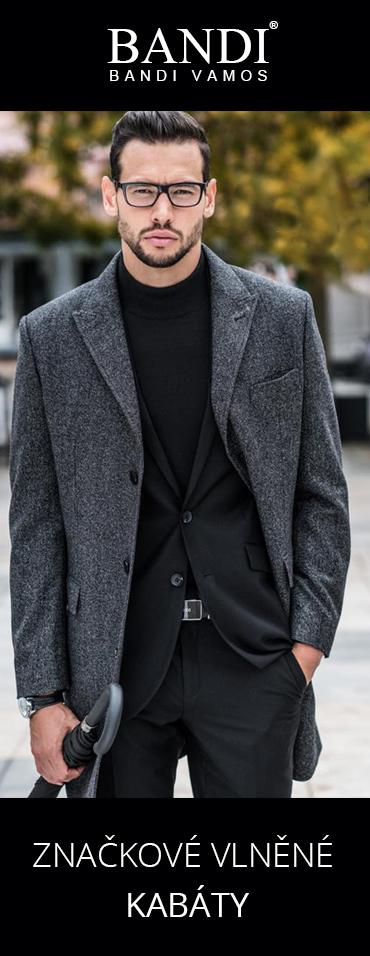 Značkové pánské vlněné kabáty BANDI